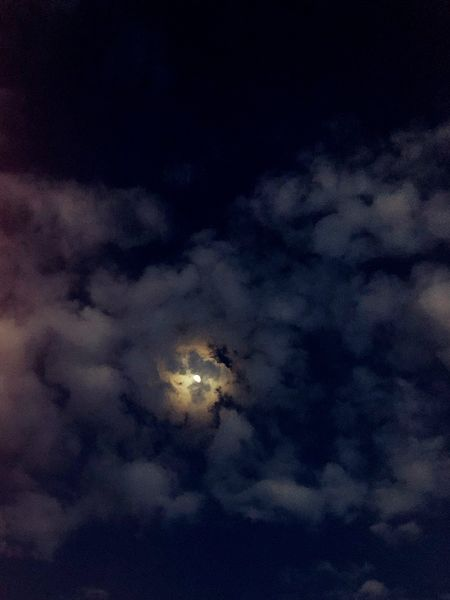 Night Majestic Space Exploration Low Angle View Moon