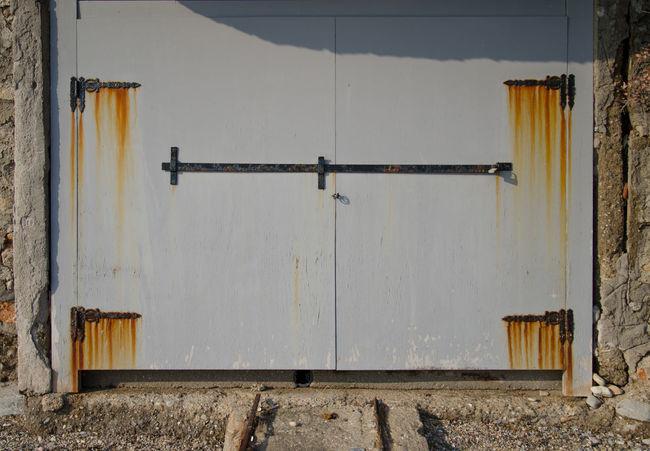 Abandoned Coastal Door Doors Doorway Hinges Rust Rusted Metal  Rustic Seaside