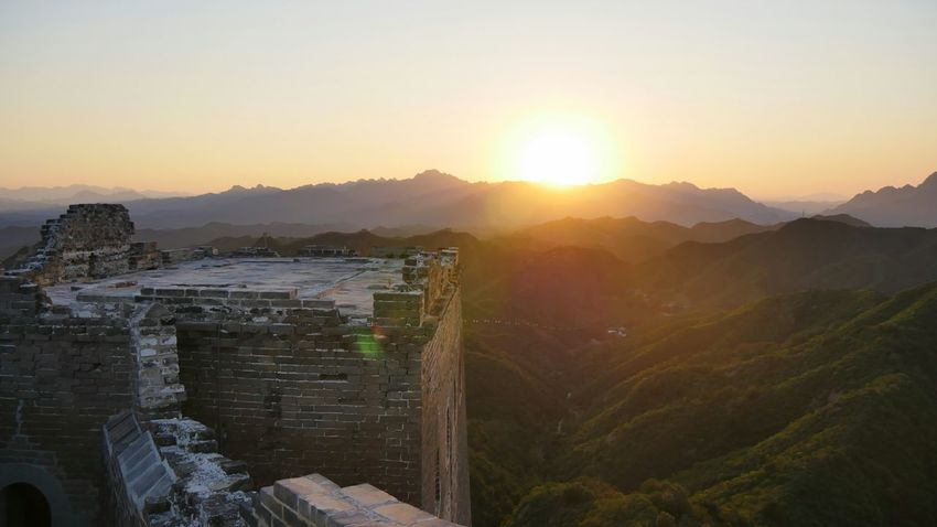 Sunset Landscape Nature Mountain Sun Outdoors No People Beauty In Nature Thegreatwall The Great Wall Of China The Great Wall JInshanling Great Wall Welcomeweekly Welcome Weekly BEIJING 北京 China BEIJING北京CHINA中国BEAUTY