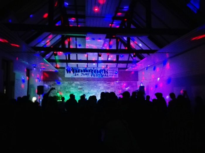 Concertphotography Concert light and reflection Colorful Circles People Night Dance Floor Woodrock Event Rock Music