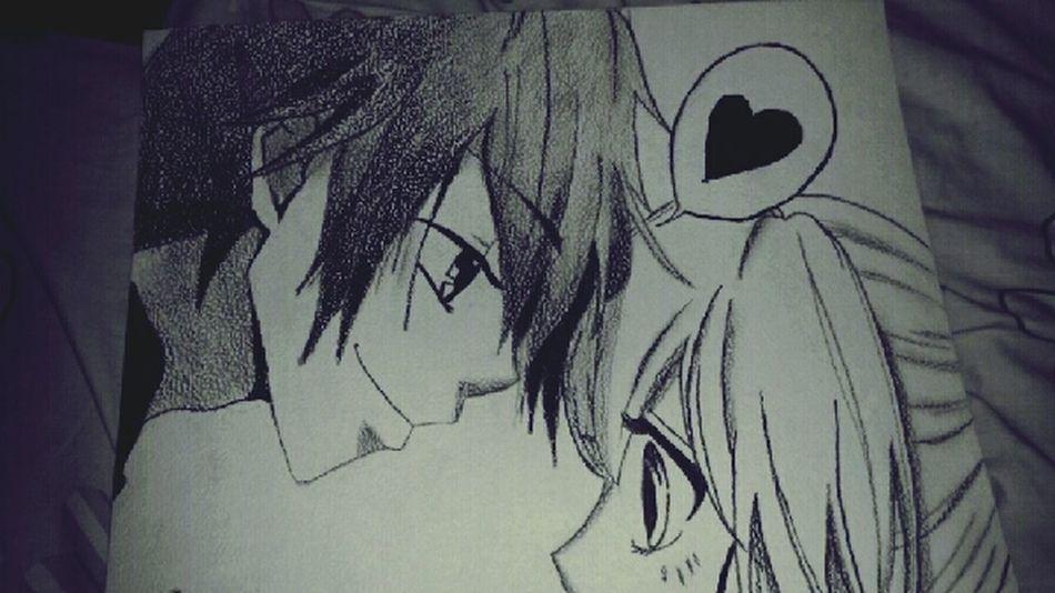 Mi dibujito recien terminado lo amo ♡ *---* Anime :3 ^.^'