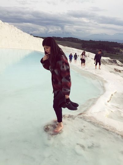 Hello World People Photography Natural Beauty Traverten HotWaterPamukkale Travertenleri me when trying to stand;)