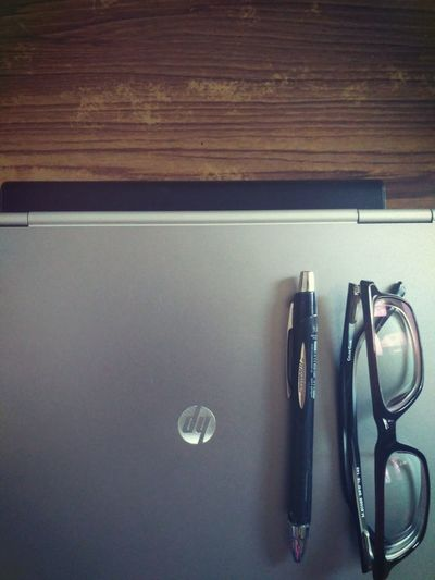 Work Indoors  No People Day Laptop Spectacles Pen Writing Poems Writings Work Peace Creative Be. Ready. Business Stories