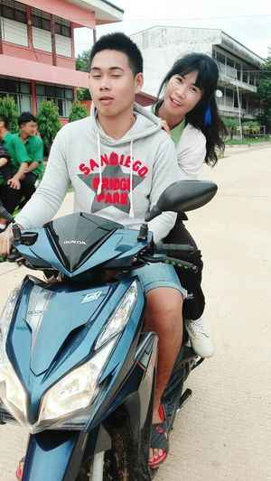 Hahaha! That's Me Motorcycle Trip Me And My Friend Students Cool Happy People Hello World Faces Of EyeEm Funny Faces
