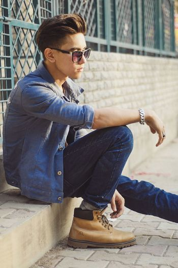 Instagram : chen_music Street Fashion Street Street Style Fashion Denim Jacket Denim Chen Boots Streets Fashion Photography