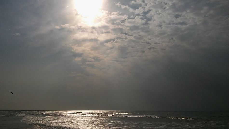 Beauty In Nature Buenos Aires, Argentina  Clouds Day Horizon Over Water Nature Necochea. Argentina No People Outdoors Scenics Sea Sky Sun Sunbeam Tranquil Scene Tranquility Water