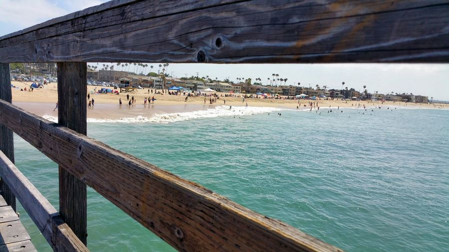 View from the pier. Check This Out Relaxing Enjoying Life Strolling The Pier Enjoying People Beautiful Day Lazy Days Relaxing Seal Beach, California Enjoying The Sun At The Beach Atmospheric Mood Nature_perfection Beach View Simplicity Fine Art Photography California Dreamin