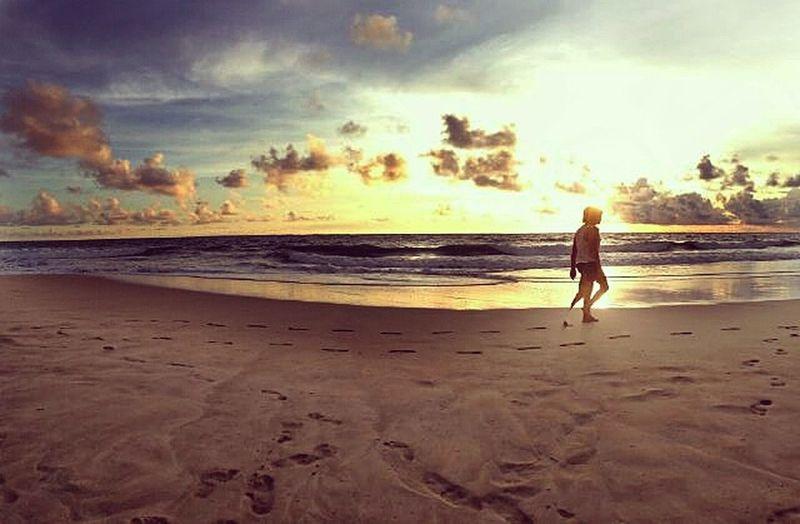 Beach Couple Walking Seascape The Moment - 2015 EyeEm Awards Vergiephotograph