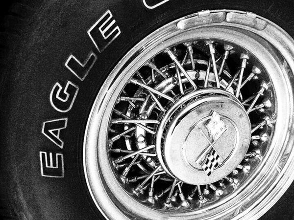 Car Detail Reifen Monochrome