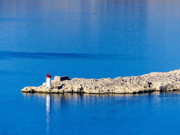 Croatia Kroatien Leuchtturm Lighthouse Mediterranean Sea Blue Dalmatien Day Mittelmeer Nature No People Outdoors Pag Water EyeEmNewHere