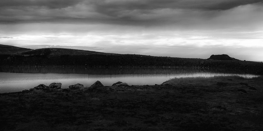 Moon River Iceland Beauty In Nature Blackandwhite Cloud - Sky Lake Landscape No People Tranquil Scene Tranquility Water HUAWEI Photo Award: After Dark EyeEmNewHere