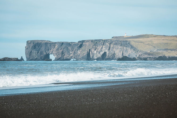 Beach Beauty In Nature Coastal Feature Coastline Day Iceland Landscape Nature No People Outdoors Rock - Object Sand Scenics Sea Sky Water Wave