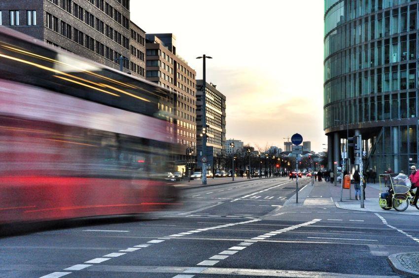Berlin Berliner Ansichten Potsdamer Platz Dusk In The City Dusk Blue Hour Moving Traffic Photography In Motion Streetphotography