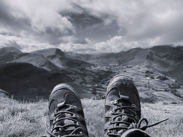 Sitting on the top of a mountain in the lake district