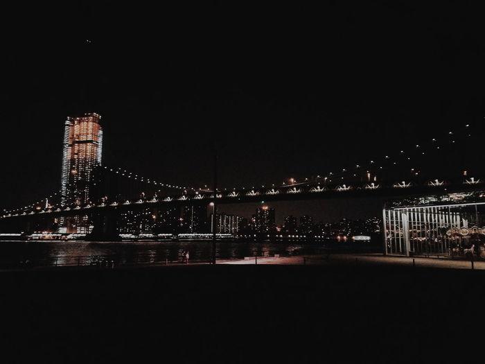 Brooklyn bridge Cityscape Illuminated Skyscraper Brooklyn Bridge / New York Brooklyn Bridge Park Brooklyn Bridge  Brooklyn Bridge Night Shot Brooklyn Bridge At Midnight