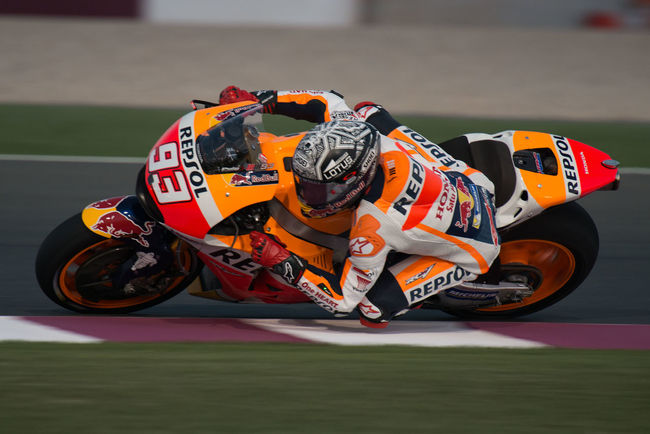 MotoGP riders during the final preseason test before the start of the 2016 MotoGP season Losail LosailCircuit Marcmarquez Motogp MotoGP2016 Motorcycle Motorsports Preseason Qatar Race Racing Test