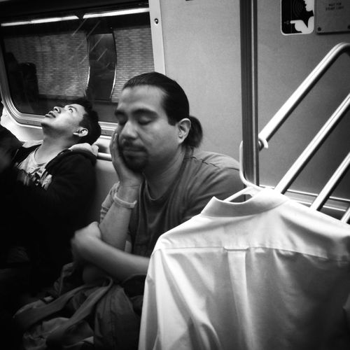 Subway Candid IPhoneography Blackandwhite