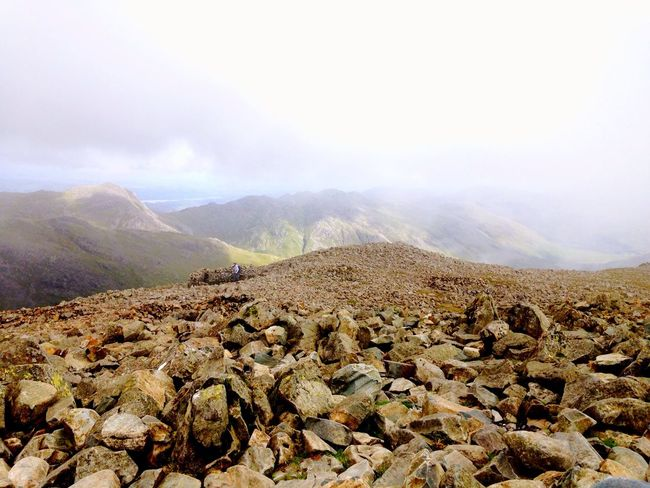 View from the Mountain Clouds Mountain Range Fog Scenery Sky Nature Stones And Pebbles Hiking Trail Hiking Peak Scafell Pike Lake District Climbing Scrambling Rocks Stones Peak