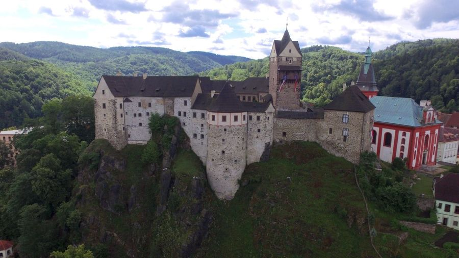 Architecture Building Exterior Built Structure Castle Castle On A Hill Day Medieval Castle Nature No People Outdoors Sky St. Wenceslas Church Travel Destinations Flying High