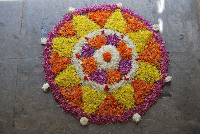 DIWALI CELEBRATION Close-up Day Diwali Diwali Celebration Festival Of Lights Festival Season Flower Flower Decoration FLOWER KOLAM Freshness Incredible India India K Multi Colored
