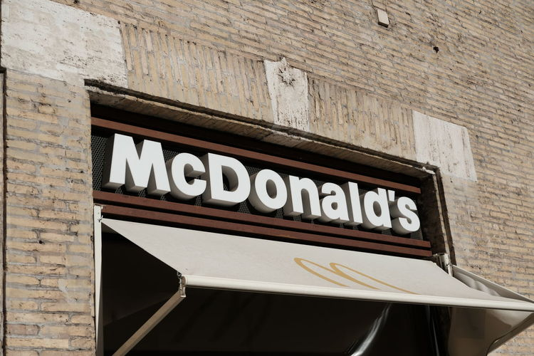 Rome, Italy - August 13, 2017: McDonald's restaurant signage. McDonald's is the leading global fast food chain and can be found in many countries across the globe Fast Food Mac Donald Fast Food Restaurant Mac Donalds Mc Donald's Mc Donalds *--* McDonald McDonald's Rome Close-up Fast Food Restaurant Italy Junk Food Mac Donald Mac Donald's Mc Donald Mc Donalds Mcdonalds No People Outdoors Restaurant Text