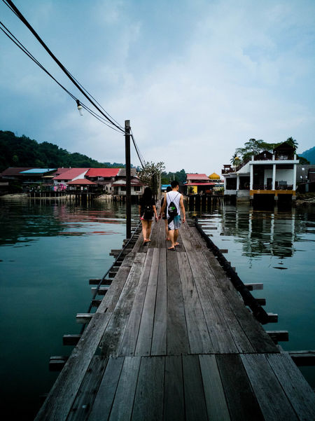 Exploring the island of Pangkor with some friends who make waking up each day something exciting. Water Full Length Sky People Day Togetherness Outdoors Nature Sea Sea And Sky Reflections In The Water Pier Mobilephotography HuaweiMate9Photography Two People Adults Only Adult Standing Men Only Men Young Adult Malaysia Pangkor Island Malaysia