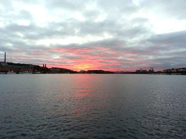Cloud - Sky Sunset Sky Red Landscape Beauty In Nature Urban Skyline Stockholm Crimson Grey Skies