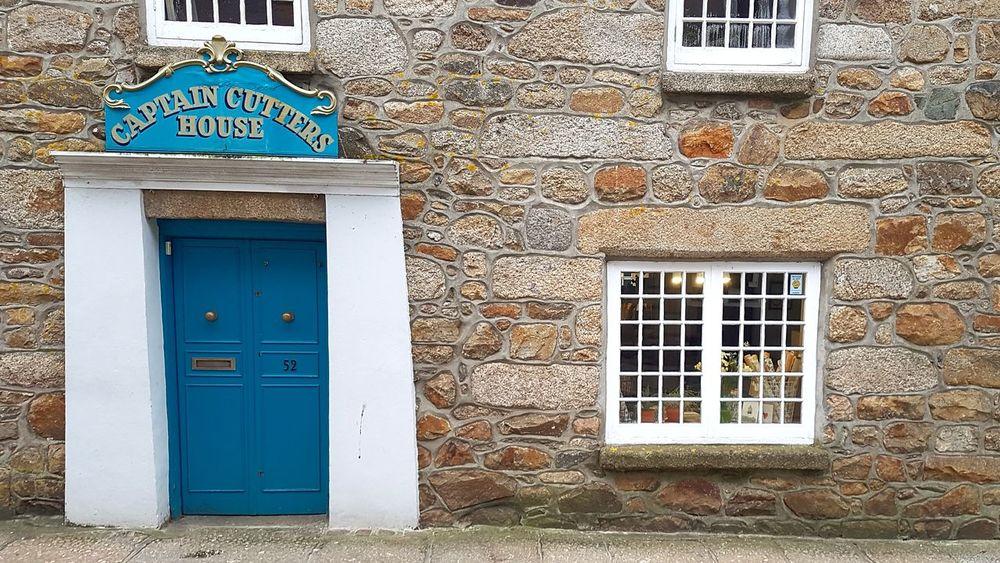 Historic Captain Cutters House in Penzance, Cornwall, England, UK Building Exterior Architecture Built Structure Door Window Closed Outdoors Entrance No People Day