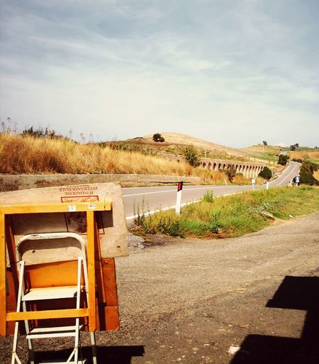 Film set EyeEm Selects Sky Tranquil Scene Countryside Tranquility Scenics Calm Outdoor Chair