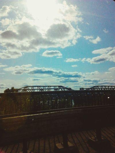 Sky Beautiful небо и облака Красоты природы мост видизокна видизмашины Sun красотарядом солнце