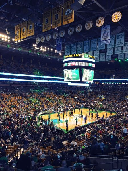 Stadium Td Garden Boston Celtics Audience Large Group Of People Sport Spectator Crowd Night Illuminated People Outdoors Match - Sport Architecture Fan - Enthusiast Adults Only Adult Basketball