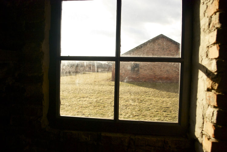 #auschwitz #memory #remember #cloudy #solitude Geometric Shape Indoors  No People Window