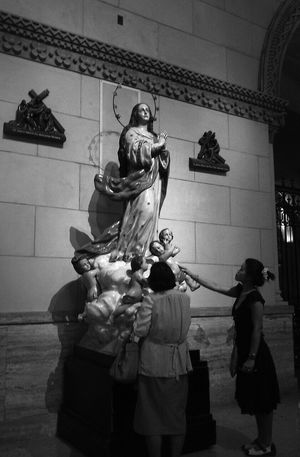 Sunday Mama Mary Faith Blessedsunday Manila Cathedral Monochrome Mobilephotography Eyem Philippines