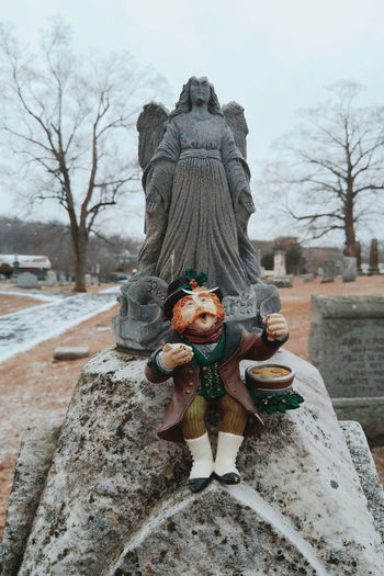 Lucky. Willimantic Connecticut . Cemetery Vscocam Leprechaun Found Object Gravestone Monument