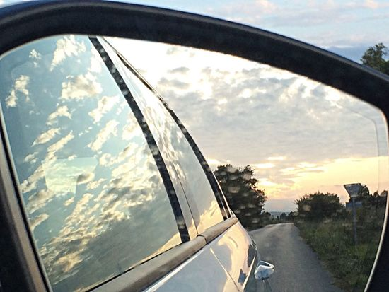 On The Road Clouds Clouds And Sky Reflection