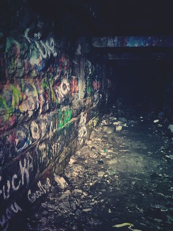 One of the Haunted Tunnels at Split Rock Quarry in Taunton NY. In 1918 there was a munitions explosion that killed over fifty men. People have heard voices, footsteps, and the grinding machine. At night there's been glowing green lights. It's one of the most Infamous Paranormal Activity places in Centralnewyork Graffiti Dark Places Scary Places Creepy Crawly Daretoexplore