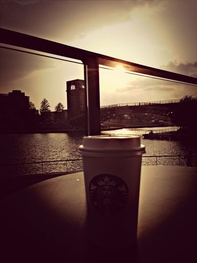 Coffee Taking Photos Starbucks #sunset #sun #clouds #skylovers #sky #nature #beautifulinnature #naturalbeauty #photography #landscape