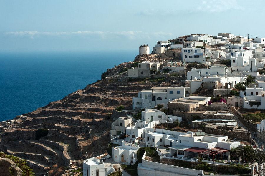 Aegean Sea Greek Islands Greek Summer Architecture Cityscape Cyclades Horizon Over Water Sikinos Travel Destinations Village View