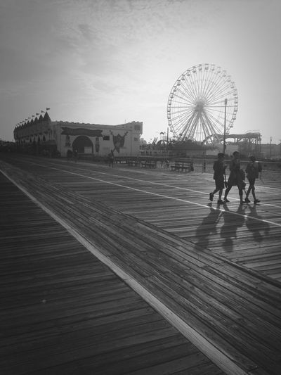Black & White Blackandwhite Boardwalk Beach