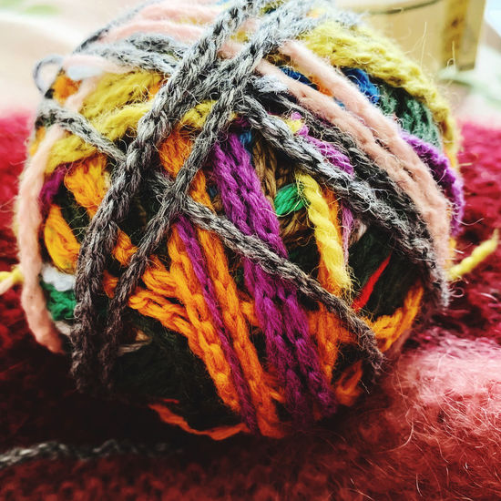 Close-up of multi colored ropes