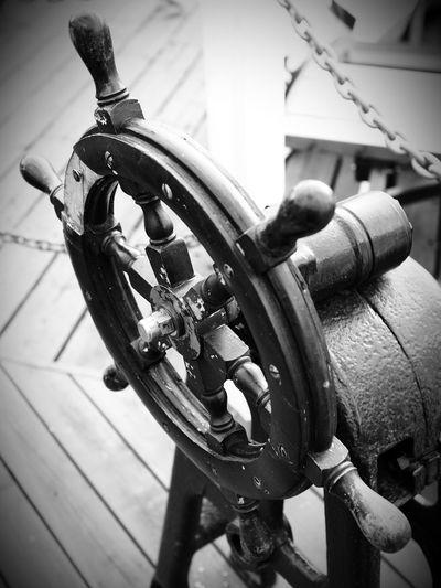 Steering wheel 🛥 Steering Wheel Steeringwheel Steering Wheel Ship Steering The Boat Shallow Depth Of Field Selective Focus Ship Details Black&white Black And White Blancoynegro Black And White Photography Blanco Y Negro Black & White