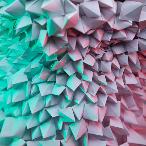 net, network, work, communication, connection, dynamism, abstract, background, abstract background, mobile, contrast, close-up, lines, curves, red, pink, green, light green, complementary, contrasting, triangle, paper, minimalism, pyramid, pyramids Abstract Backgrounds Abstract Minimalism Triangle Shape Triangle Pyramid Shape Pyramid Fashion Blue Turquoise Pink Pink Color Green Green Color Design High Angle View Craft Close-up Still Life Indoors  No People Backgrounds Multi Colored Pattern Full Frame Large Group Of Objects Paper Creativity Art And Craft Indoors  Abundance Origami Studio Shot White Color Focus On Foreground Repetition