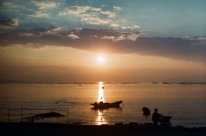 ずっと見ていたい Film Photography Filmcamera Sea And Sky Sky_collection Sunsetporn EyeEm Best Shots - Sunsets + Sunrise 有明海 干潟 Skyporn Asahi Pentax Spotmatic Natura1600 35mm Film