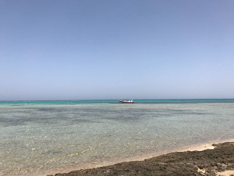 Sea Water Sky Scenics - Nature Beach Beauty In Nature Horizon Over Water Tranquility Land Horizon Tranquil Scene Clear Sky Day Nature Copy Space Idyllic No People Sand Nautical Vessel Outdoors