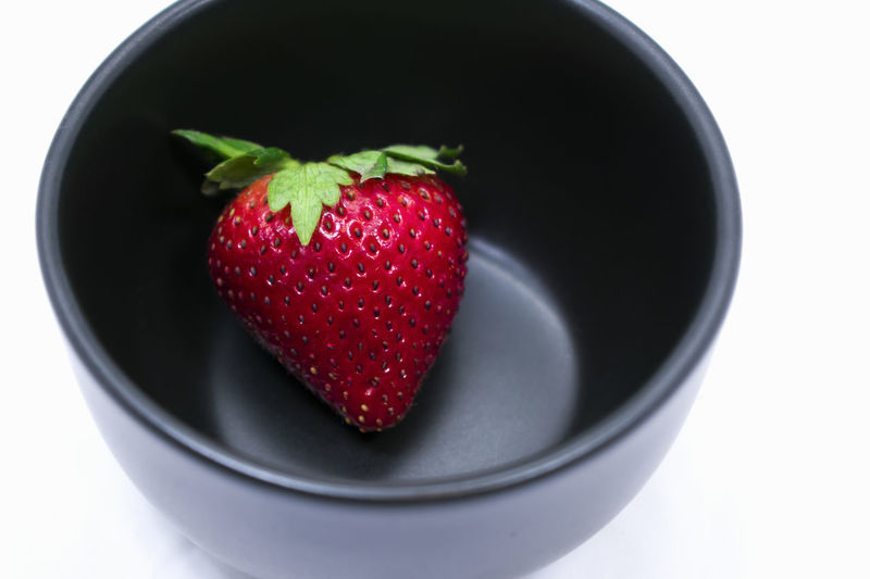 Individual in an Excluded Place Bowl Close-up Day Food Food And Drink Freshness Fruit Healthy Eating Individualism Indoors  No People Ready-to-eat Red S Sophistication Strawberry Studio Shot Sweet Food White Background