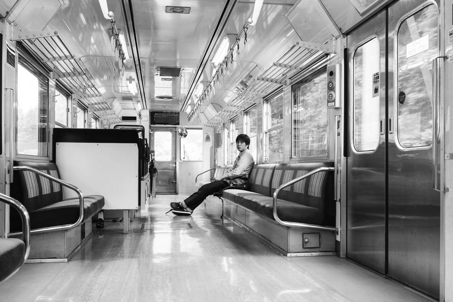 lonely commuter Shikoku Commuting Street Photography Japan