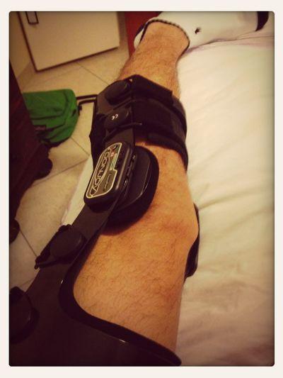 Got My Knee Brace. Now I Can Play Soccer. (: