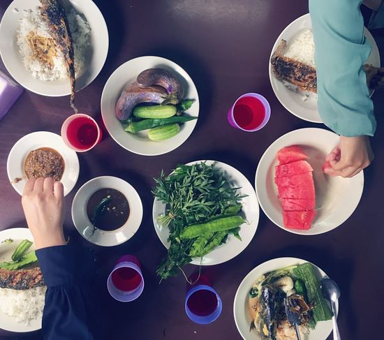 Typical Malaysian lunch Human Hand Food And Drink Plate Ready-to-eat People Table Healthy Eating Indoors  Human Body Part Real People Freshness Food Togetherness Adult Day Serving Dish Adults Only