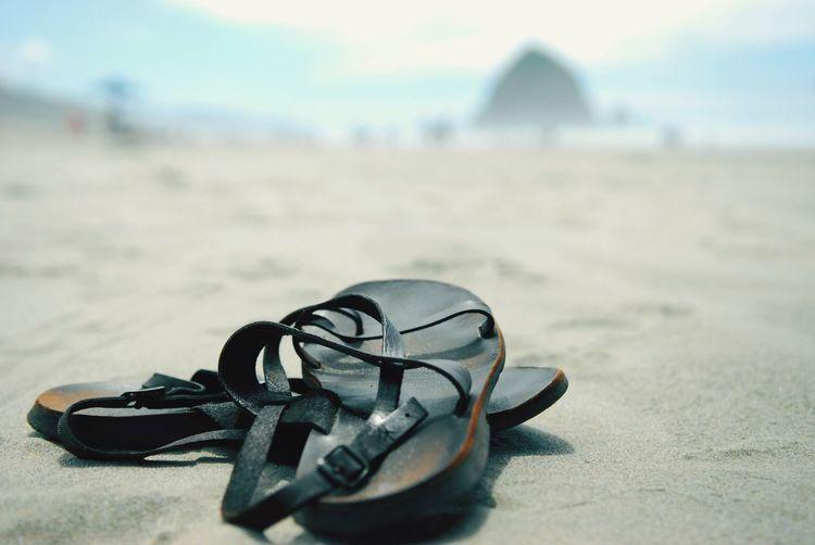 The Tourist Sandals Beach Ocean Rock Canon Beach Sky Blue Breathing Space