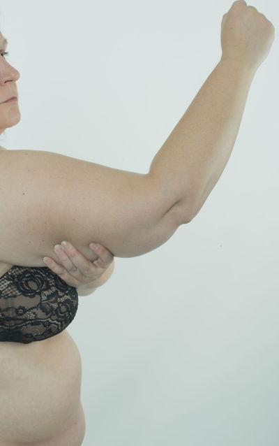 Woman making diet BBW* Diet Obesity Stomach Woman Abdomen Bodyart Bra Cellulite Centimeter Dietary Fat Female Health Human Large Measure Overweight Pretty Rounding Skin Underwears Weight